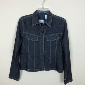 NWOT  Liz Claiborne  Dark Wash Blue Jean Jacket